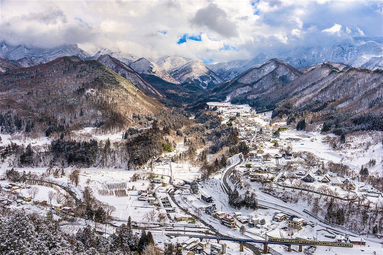 Il villaggio innevato di Yamadera nel profondo nord del Giappone